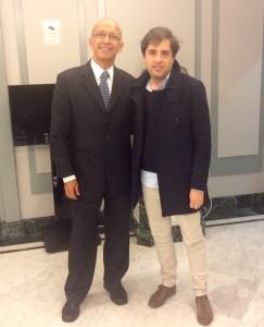 Alexandre Kalanche junto a Francisco Olavarría, Director Creativo de Serpentina Senior el pasado 17 de Diciembre.