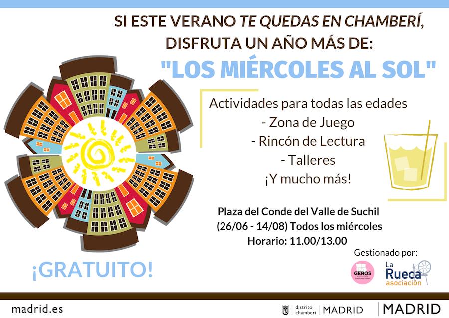 verano personas mayores Mircoles al Sol actividades madrid 2019